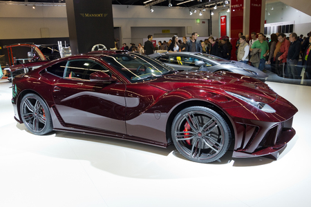 FRANKFURT, GERMANY - SEP 13: Mansory Ferrari F12 La Revoluzione at the IAA motor show on Sep 13, 2013 in Frankfurt. More than 1.000 exhibitors from 35 countries are present at the worlds largest motor show. Editorial