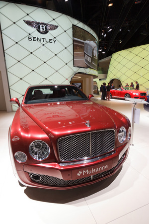 FRANKFURT - SEP 20: Bentley Mulsanne at the IAA motor show on Sep 20, 2013 in Frankfurt. More than 1.000 exhibitors from 35 countries are present at the worlds largest motor show.