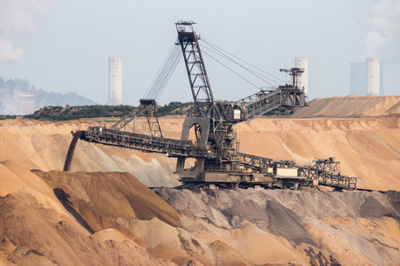Open pit mining industry