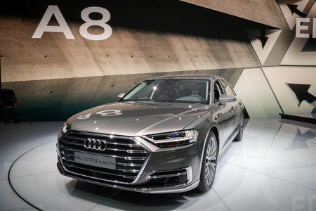 Frankfurt Germany Sep 13 2017 New 2018 Audi A8 L Quattro