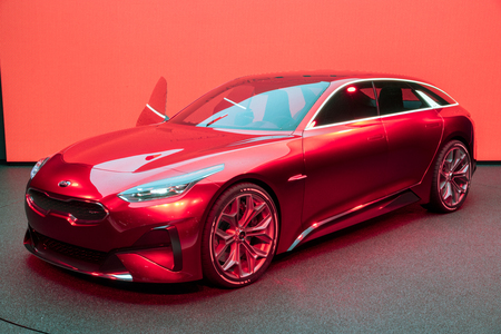 FRANKFURT, GERMANY - SEP 13, 2017: Kia Proceed concept car presented at the Frankfurt IAA Motor Show 2017.