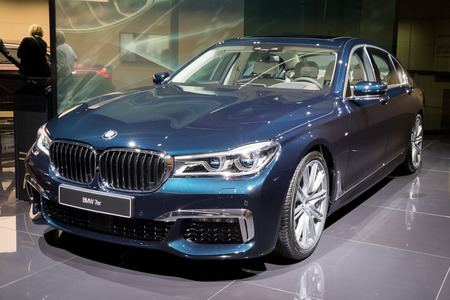 FRANKFURT, GERMANY - SEP 12, 2017: BMW 7 Series Edition 40 Jahre  showcased at the Frankfurt IAA Motor Show 2017.