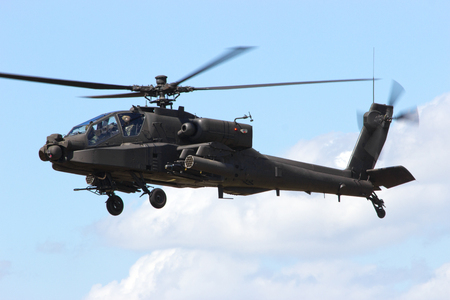 armed army AH-64 Apache attack helicopter