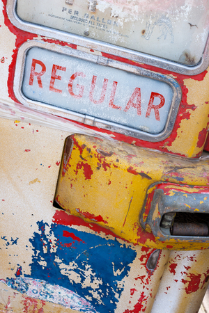 oil and gas industry: Old abandoned gas pump Stock Photo