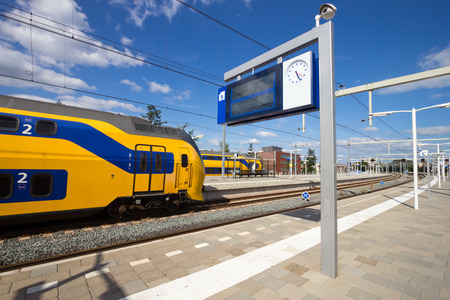 Intercity train at Arnhem Central Station, The Netherlands  Reklamní fotografie