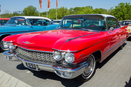 DEN BOSCH, THE NETHERLANDS - MAY 10, 2016: Vintage 1960 Cadillac Series 62 classic car Editorial