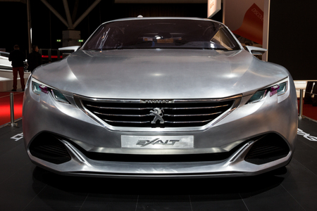 AMSTERDAM - APR 16, 2015: Peugeot Exalt concept car at the Amsterdam AutoRAI 2015 Motor Show.