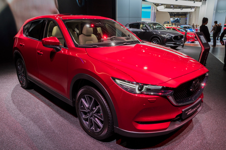 FRANKFURT, GERMANY - SEP 13, 2017: All new Mazda CX-5 car showcased at the Frankfurt IAA Motor Show. Stock Photo - 91644355