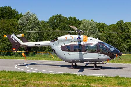 BERLIN, GERMANY - MAY 21, 2014: Eurocopter EC145 at the International Aerospace Exhibition ILA in Berlin, Germany.