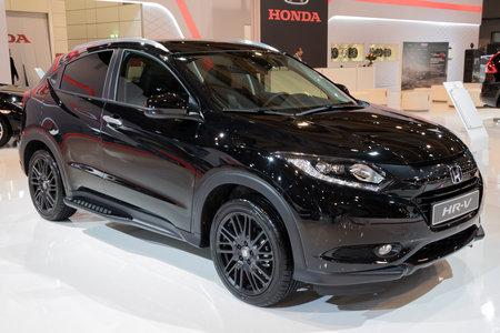 BRUSSELS - JAN 10, 2018: 2018 Honda HR-V Crossover SUV car showcased at the Brussels Motor Show. Editorial