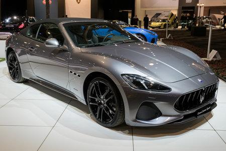 Brussels Jan 10 2018 Maserati Grancabrio Sport Granturismo