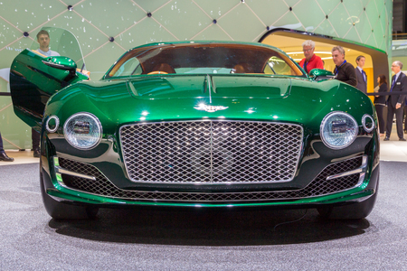 GENEVA, SWITZERLAND - MARCH 3, 2015: Bentley EXP 10 Speed 6 unveiled at the 85th International Geneva Motor Show in Palexpo, Geneva. Editorial