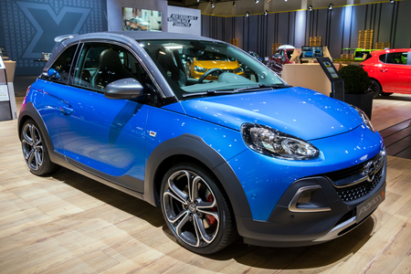 BRUSSELS - JAN 10, 2018: Opel ADAM car shown at the Brussels Motor Show.