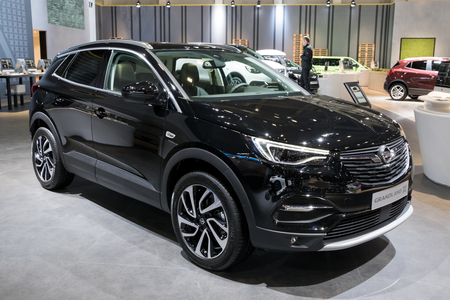 BRUSSELS - JAN 10, 2018: Opel Grandland X new SUV car shown at the Brussels Motor Show. Editorial