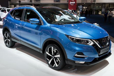BRUSSELS - JAN 10, 2018: Nissan Qashqai crossover SUV car shown at the Brussels Motor Show. Editorial