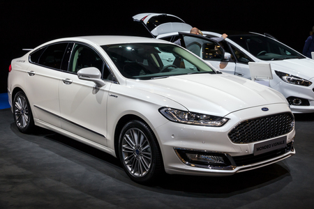 BRUSSELS - JAN 10, 2018: Ford Mondeo Vignale car shown at the Brussels Motor Show.