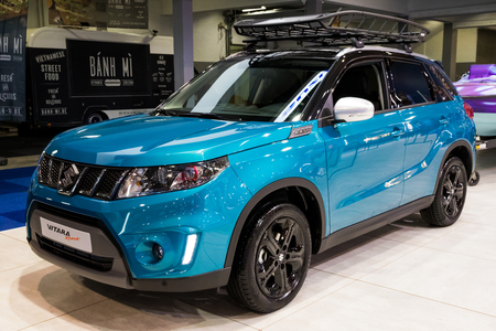 BRUSSELS - JAN 10, 2018: Suzuki Vitara Sport SUV car shown at the Brussels Motor Show.