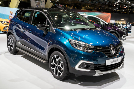 Brussels Jan 10 2018 Renault Captur Shown At The Brussels