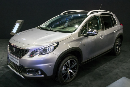 BRUSSELS - JAN 10, 2018: Peugeot 2008 Crossway compact SUV car shown at the Brussels Motor Show.