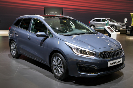 BRUSSELS - JAN 10, 2018: Kia Ceed SW car shown at the Brussels Motor Show. Editorial