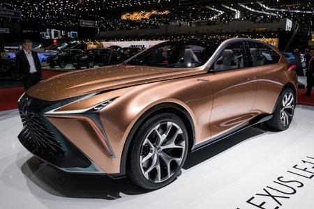 GENEVA, SWITZERLAND - MARCH 7, 2018: Lexus LF-1 Limitless luxury crossover car showcased at the 88th Geneva International Motor Show. Editorial