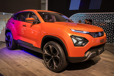GENEVA, SWITZERLAND - MARCH 6, 2018: Tata H5X Concept SUV car showcased at the 88th Geneva International Motor Show. Redakční