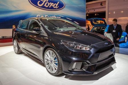 AMSTERDAM - APRIL 16, 2015: Ford Focus RS car showcased at the AutoRAI Motor Show. Redactioneel