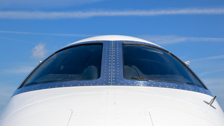 Business Jet front view