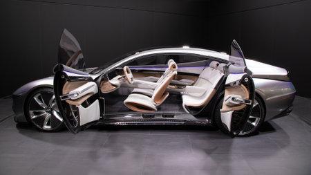 PARIS - OCT 2, 2018: Hyundai Le Fil Rouge concept car showcased at the Paris Motor Show.
