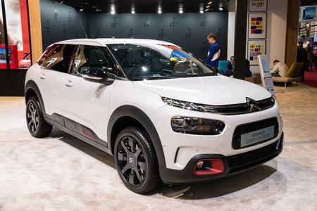 PARIS - OCT 2, 2018: New Citroen C4 Cactus car showcased at the Paris Motor Show.