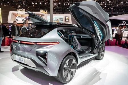 PARIS - OCT 2, 2018: GAC Motor Enverge electric concept car presented at the Paris Motor Show.