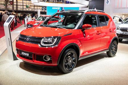PARIS - OCT 2, 2018: Suzuki Ignis car showcased at the Paris Motor Show.