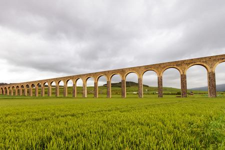 Acueducto de Noain near Pamplona city, Navarra, Spain