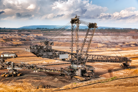 Mining equipment in a Brown Coal Open Pit Mine.