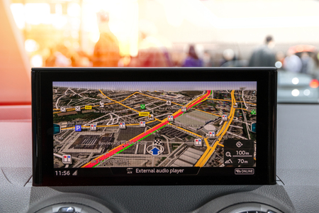 Modern car navigation travel