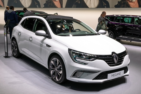 PARIS - OCT 3, 2018: Renault Megane car showcased at the Paris Motor Show. Editorial