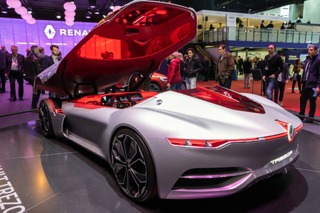GENEVA, SWITZERLAND - MARCH 8, 2017: Renault Trezor Concept car presented at the 87th Geneva International Motor Show.