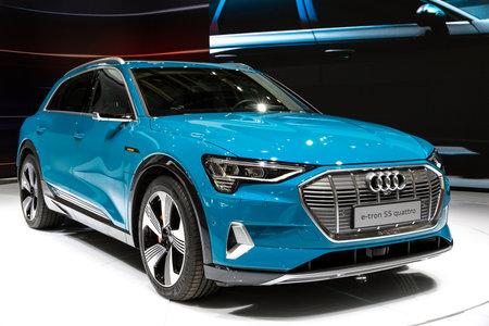 Paris - Oct 3, 2018: New 2018 Audi Sq2 Car Showcased At The Paris Motor Show.