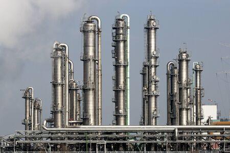planta de la central eléctrica de la refinería de petróleo