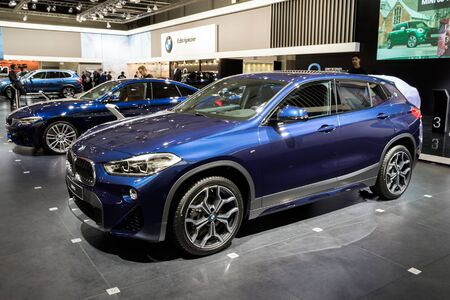 BRUSSELS - JAN 18, 2019: BMW X2 car showcased at the 97th Brussels Motor Show 2019 Autosalon. Editorial