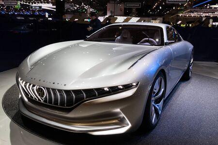 GENEVA, SWITZERLAND - MARCH 6, 2018: Pininfarina Hybrid Kinetic GT car showcased at the 88th Geneva International Motor Show.