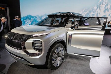 GENEVA, SWITZERLAND - MARCH 6, 2019: Mitsubishi Engelberg Tourer Concept car debuts at the 89th Geneva International Motor Show