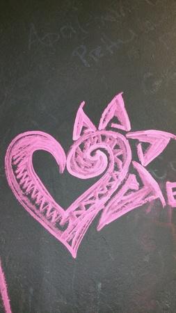 art: Chalk art heart of love