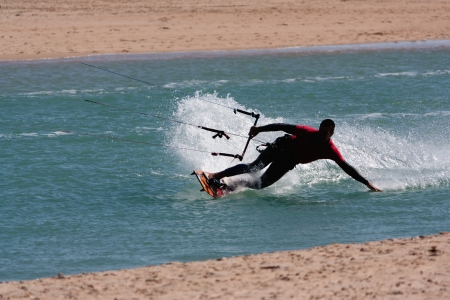 commits: Kite surf Stock Photo