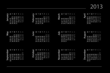 Calendar for year 2013 Stock Photo - 15733562