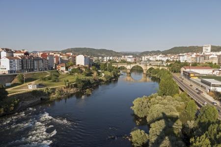 galizia: Fiume Minho, Ourense, Galizia, Spagna Archivio Fotografico