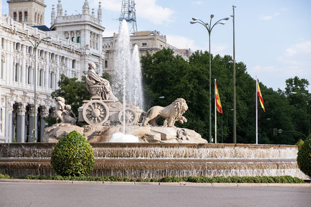 The Cibeles square at Madrid, Spain