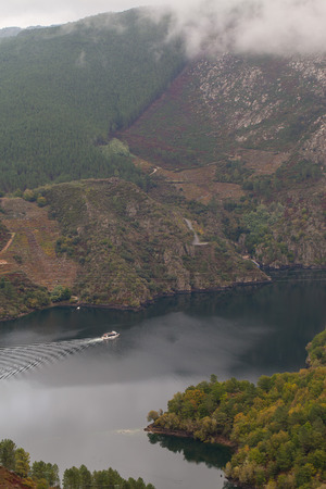 orense: Beautiful lake between mountains in Orense, Spain