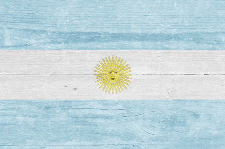 argentinian: Argentinian flag on a wooden plank