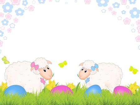 Easter sheep Stock Vector - 9349361
